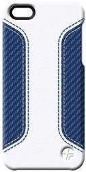 thiki leather trexta apple iphone 5 coupe white blue photo