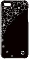 thiki leather trexta apple iphone 5 crystal flower black photo