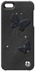 thiki leather trexta apple iphone 5 crystal butterfly black photo
