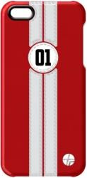 thiki leather trexta apple iphone 5 retro racer white se red photo