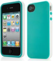 belkin f8z814cwc00 grip dandy tpu case for iphone 4 light blue white photo