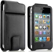belkin f8z853cwc00 flip leather case folio for iphone 4 black photo