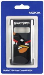 nokia faceplate cc 5004 angry birds for x7 black plastic photo