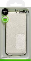 belkin f8w100vfc03 snap folio case for iphone 5 white leather photo
