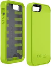 otterbox prefix series iphone 5 case glow green black silicone photo