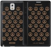 samsung flip case ef en900bg by moschino black for galaxy note 3 n9005 black gold photo