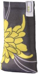 hama 91654 blossom mobile phone sock yellow universal photo