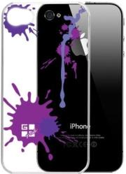 g cube a4 gpps 4v premium clear back shell for iphone 4 paint splash violet photo