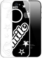 g cube a4 gpsm 4bl premium clear back shell for iphone 4 4s smile say cheese series photo