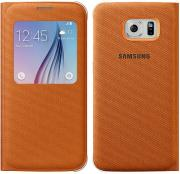 samsung galaxy s6 g920 s view cover fabric orange photo
