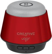 creative woof portable micro wireless speaker red photo