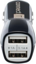 connect it ci 243 usb car charger dual 31a 1a black with micro usb cable universal photo