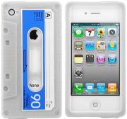 itape deck silicone case video stand for iphone 4 4s blue photo