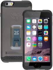 armor x rugged case with kickstand cx mi6p for apple iphone 6 plus gun metal grey photo