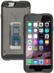 armor x rugged case with kickstand cx mi6 for apple iphone 6 gun metal grey photo