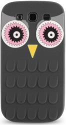 silicon 3d case owl for apple iphone 6 6s black photo