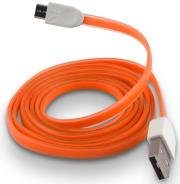 forever micro usb cable orange silicone flat box photo