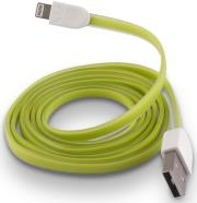 forever usb cable for apple iphone 5 6 7 green silicone flat box photo