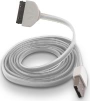 forever usb cable for apple iphone 3 4 white silicone flat box photo