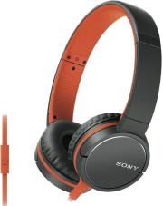 sony mdr zx660apd smartphone capable headphones orange photo
