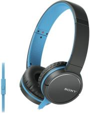 sony mdr zx660apl smartphone capable headphones blue photo