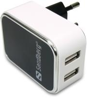 sandberg ac charger dual usb 24 1a eu universal photo