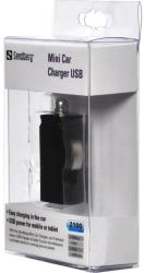 sandberg mini car charger usb 2100ma universal photo