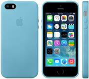 apple faceplate leather for iphone 5 5s mf044 blue photo