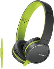 sony mdr zx660apg smartphone capable headphones green photo