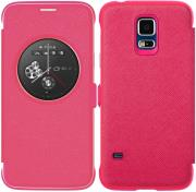 anymode flip case circle view for samsung galaxy s5 mini pink photo