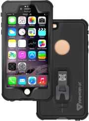 armor x waterproof protective case ip68 mx ap5s with carabiner for apple iphone 6 6s plus black photo