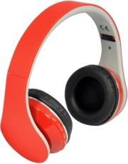 rebeltec pulsar wireless bluetooth headphones with mic red photo