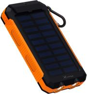 xlayer powerbank plus solar 8000mah black orange photo
