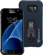 armor x rugged case cx s7 ny for samsung galaxy s7 with belt clip x mount system navy photo