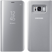SAMSUNG FLIP-CASE CLEAR VIEW EF-ZG950CS FOR GALAXY S8 SILVER τηλεπικοινωνίες   θήκες