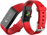 SPORTWATCH VIDONN A6 BLUETOOTH SMART WRISTBAND WITH HEART RATE MONITOR RED τηλεπικοινωνίες   smart watches