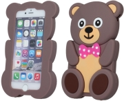 GREENGO SILICON 3D BACK COVER CASE TEDDY FOR LG K3 K100DS PINK 5900495502117 τηλεπικοινωνίες   θήκες