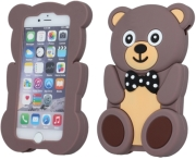 GREENGO SILICON 3D BACK COVER CASE TEDDY FOR LG K3 K100DS BLACK 5900495502131 τηλεπικοινωνίες   θήκες