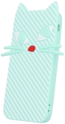 GREENGO SILICON 3D BACK COVER CASE KITTEN FOR LG K3 K100DS MINT 5900495522788 τηλεπικοινωνίες   θήκες
