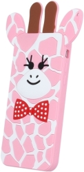 GREENGO SILICON 3D BACK COVER CASE GIRAFFE 2 FOR LG K3 K100DS PINK 5900495523570 τηλεπικοινωνίες   θήκες