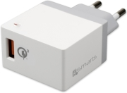 4SMARTS WALL CHARGER VOLTPLUG QUALCOMM QUICK CHARGE 3.0 18W WHITE τηλεπικοινωνίες   φορτιστές