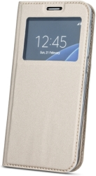 FLIP CASE SMART LOOK FOR SAMSUNG GALAXY J3 2016 (J320) GOLD τηλεπικοινωνίες   θήκες