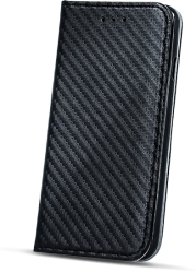 FLIP CASE SMART CARBON FOR HUAWEI MATE 9 BLACK τηλεπικοινωνίες   θήκες