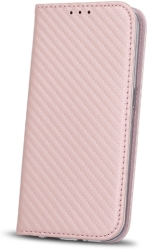 FLIP CASE SMART CARBON FOR HUAWEI Y6 2017 / HUAWEI Y5 2017 ROSE GOLD τηλεπικοινωνίες   θήκες