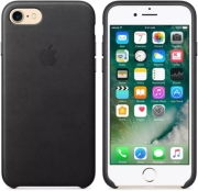 APPLE FACEPLATE LEATHER MMY52 FOR IPHONE 7 BLACK τηλεπικοινωνίες   θήκες