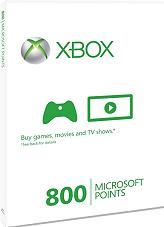 xbox live card 800 points photo